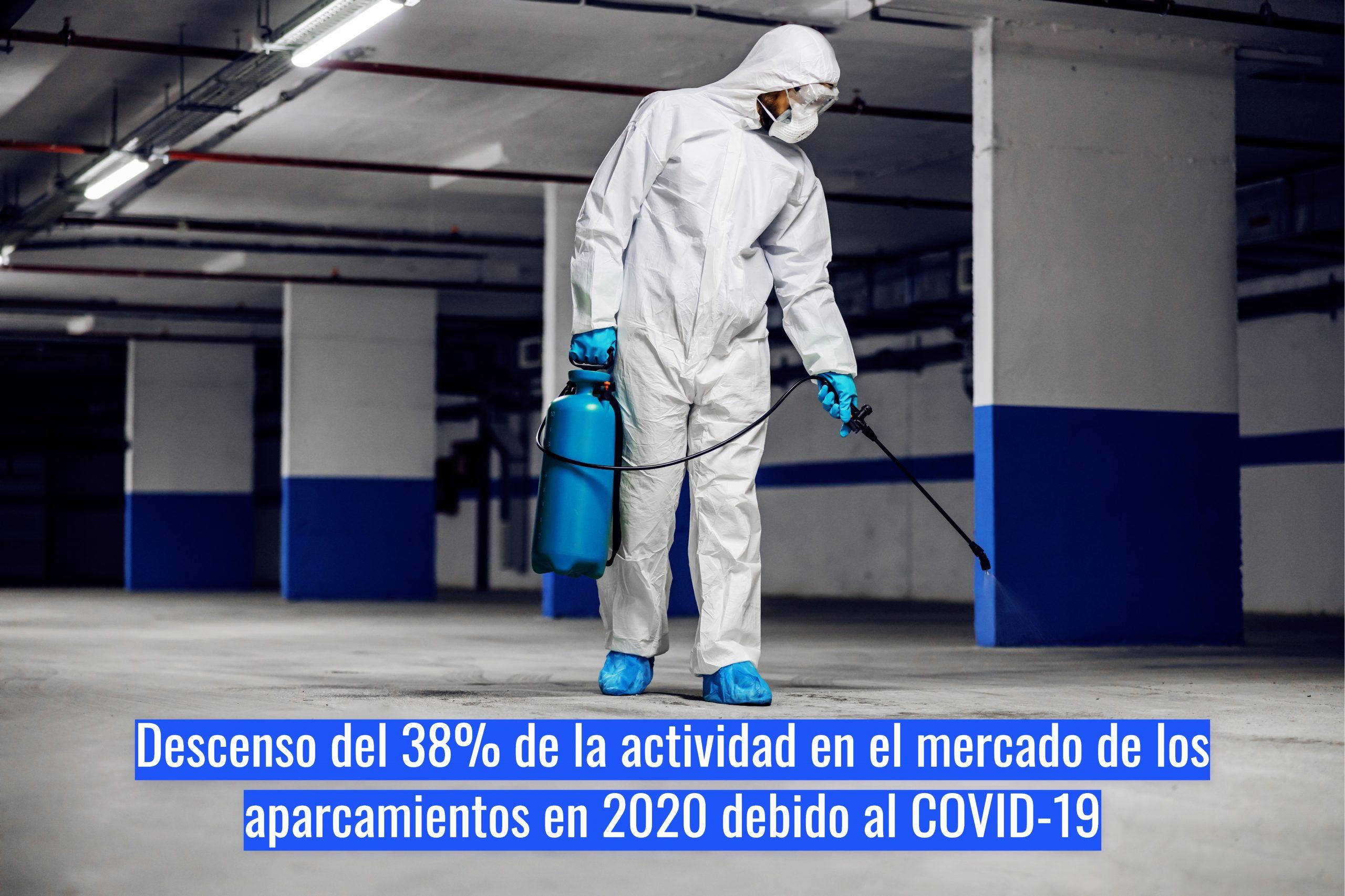 Descenso del 38% en el mercado de los aparcamientos en 2020 debido al COVID-19